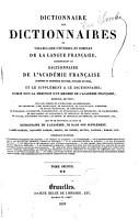 Dictionnaire des dictionnaires ou vocabulaire universel et complet de la langue fran  aise PDF