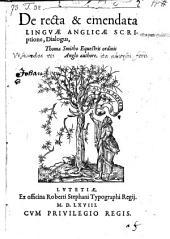 De recta et emendata linguae. anglicae scriptione dialogus