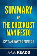 Summary of the Checklist Manifesto
