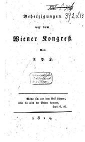 Beherzigungen vor dem Wiener Kongress