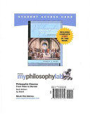 Philosophical Classics  Myphilosophylab With Pearson Etext Student Access Code Card PDF