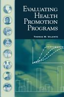 Evaluating Health Promotion Programs PDF