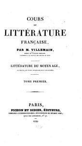 Cours de littérature française: Volume1