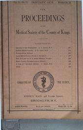 The Proceedings of the Medical Society of the County of Kings: Volume 2
