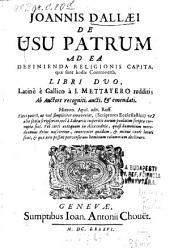 De usu patrum ad ea definienda relig. capita quae sunt hodie controversa