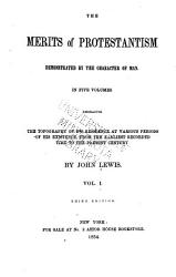 The Merits of Protestantism Demonstrated by the Character of Man PDF