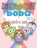 Kawaii Boba Tea Coloring Book