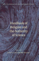 Handbook of Religion and the Authority of Science
