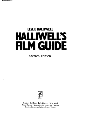 Halliwell s Film Guide