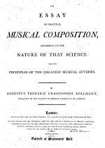 """An"" Essay On Pratical Musical Composition"