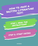 Notebook How to Pass a British Literature Test