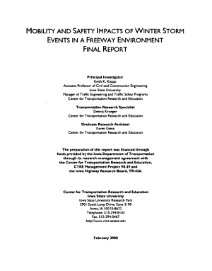Mobility and Safety Impacts of Winter Storm Events in a Freeway Environment PDF