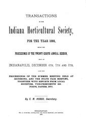 Transactions of the Indiana Horticultural Society: Volume 28