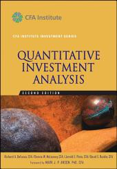 Quantitative Investment Analysis: Edition 2