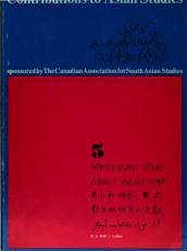 Contributions to Asian Studies
