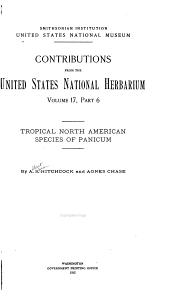 Tropical North American Species of Panicum: Volume 17