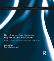 Developing Creativities in Higher Music Education PDF