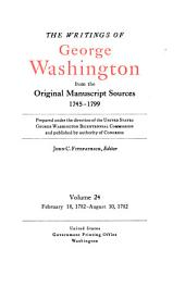 The Writings of George Washington from the Original Manuscript Sources, 1745-1799: Volume 24