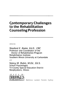 Contemporary Challenges to the Rehabilitation Counseling Profession PDF