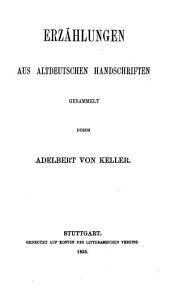 Erzählungen aus altdeutschen Handschriften