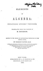 Elements of Algebra: Including Sturm's Theorem
