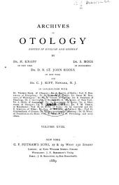 Archives of Otology: Volume 18