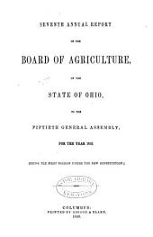 Annual Report of the Ohio State Board of Agriculture: Volume 7; Volume 1852