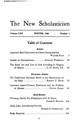The New Scholasticism PDF