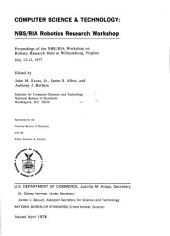 Proceedings of the NBS/RIA Workshop on Robotics Research held at Williamsburg, Virginia, July 12-13, 1977: Issue 29; Issue 500