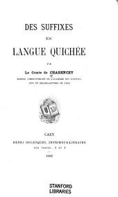 Des suffixes en langue quichée