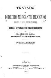 Tratado de derecho mercantil Mexicano: seguido de unas breves nociones de derecho internacional privado mercantil