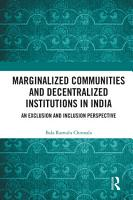 Marginalized Communities and Decentralized Institutions in India PDF