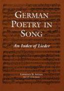 German Poetry in Song PDF