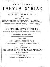 Tabula Syriae cum excerpto geographico ex Jbn ol Wardii geographia et historia naturali