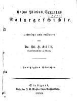 Cajus Plinius Secundus Naturgeschichte PDF