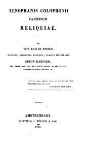 Philosophorum graecorum veterum: pars 1. Xenophanes. pars 2. Parmenides