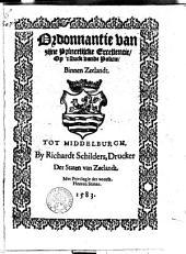Ordonnantie van zyne Princelycke Excellentie, op 't stuck vande policie, binnen Zeelandt