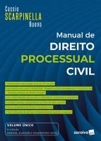Manual De Direito Processual Civil   Vol    nico   7   Edi    o 2021 PDF