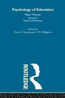 Psychology of Education  Pupils and learning PDF