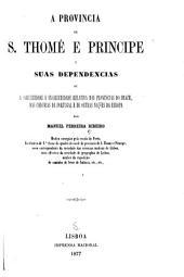 A provincia de S. Thomé e Príncipe e suas dependencias, ou, A salubridade e insalubridade relativa das provincias do Brazil, das colonias de Portugal e de outras nações da Europa