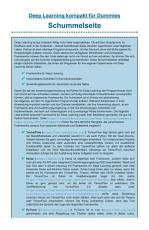 Deep Learning kompakt f  r Dummies PDF