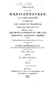 Travels along the Mediterranean and parts adjacent: in company with the Earl of Belmore, during the years 1816-17-18, Volume 2