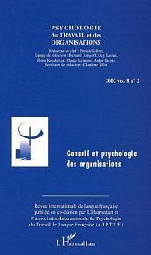 Conseil et psychologie des organisations