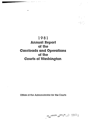 Annual Report of the Caseloads and Operations of the Courts of Washington PDF