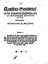 Lucifers Sendbrief, an die vermeinten Geistlichen, vor 140. Jaren geschrieben