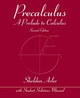 Precalculus  A Prelude to Calculus  2nd Edition PDF