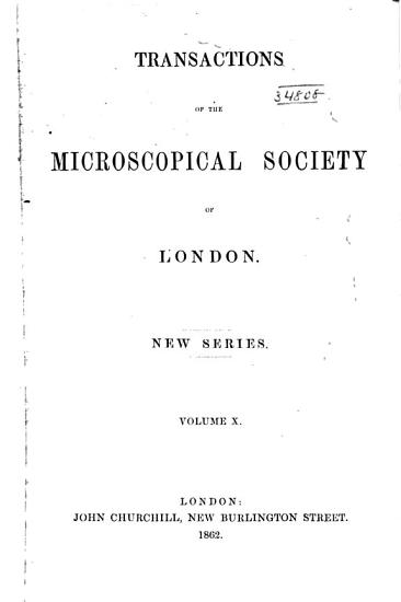 The Transactions of the Microscopical Society of London PDF