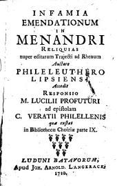 Infamia emendationum in Menandri reliquias: Part 9