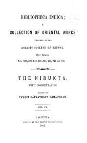 The Nirukta: Volume 4