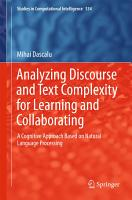 Analyzing Discourse and Text Complexity for Learning and Collaborating PDF